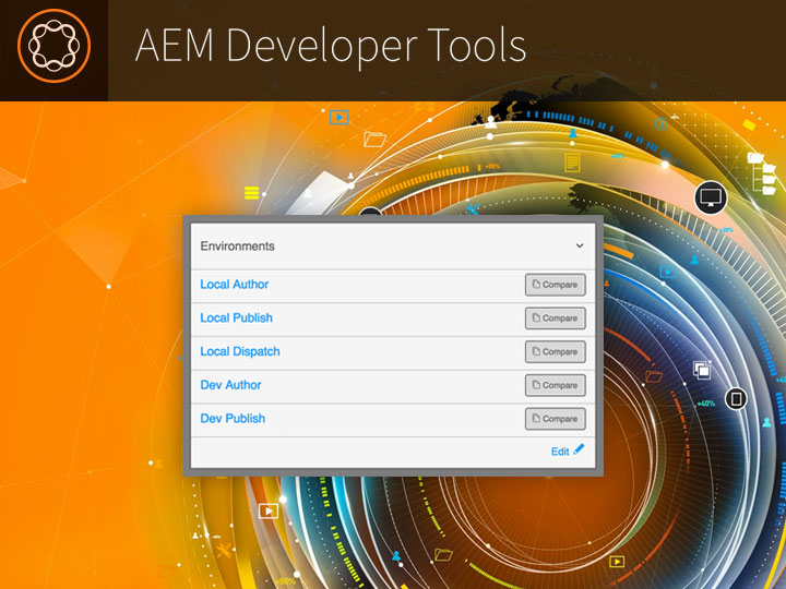 AEM browser extensions screenshot